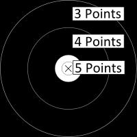 Hunter Round target face