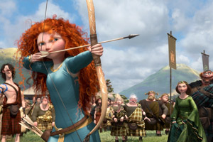 Merida shows her skill and inspires thousands of young archers.